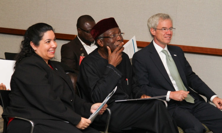 From Left - U.S. DCM Maria Brewer, Agriculture Minister Audu Ogbe and USAID Mission Director Michael Harvey