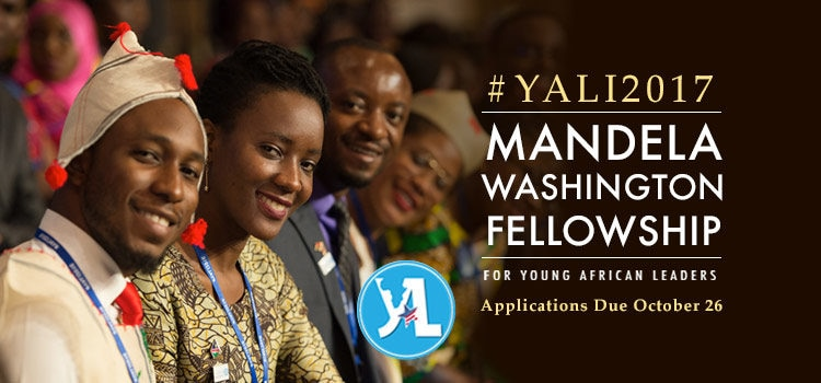 Application for YALI2017 is open until October 26 2016