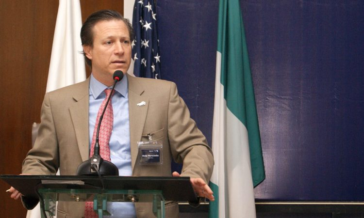 Power Africa Coordinator Andrew Herscowitz speaking in Abuja