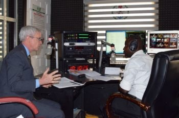 USAID Nigeria Mission Director Mike Harvey discusses USAID humanitarian assistance to IDPs in Nigeria's northeast live on Armed Forces Radio