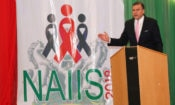 Ambassador W. Stuart Symington speaking at the launch of the U.S.-Supported National AIDS Indicator and Impact Survey in Abuja